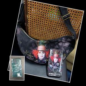 Mad hatter handbag and matching wallet
